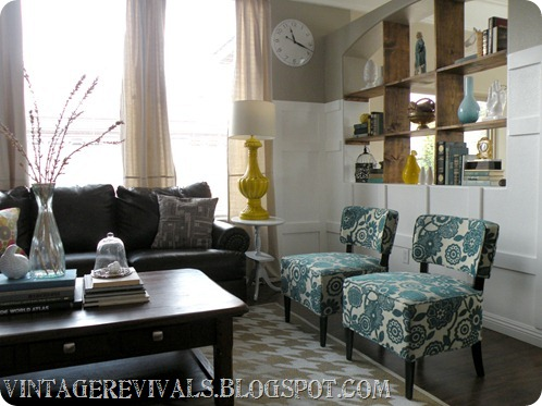 Teal Green And Yellow Living Room | Joy Studio Design ...